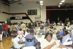 The Hangar at South Georgia Technical College was filled with people gathering information from vendors or enjoying funnel cake at tables and chatting with friends, new and old.