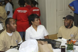 From left are Charles, Jaunice and Mr. Cecil from Albany ADH.
