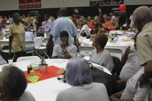 Seniors from the Marshallville Senior Center traveled to Americus for the event.