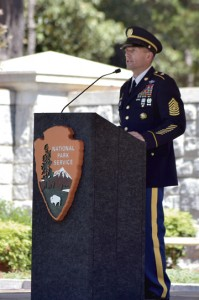 Sgt. Maj of the Army, Daniel Dailey gave a moving speech at the Funeral for 13,000.