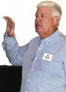 UGA plant pathologist Bob Kemerait speaks during the Georgia Peanut Achievement Club meeting.