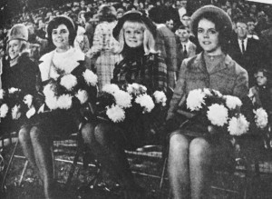 ATR File Photo: Members of the Americus High School class of 1966 Homecoming Court watched the action from the sidelines as the Panthers did battle with the Central High Yellow Jackets.