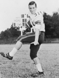 Submitted by Kellette Wade:   Panther fullback, Michael Fennessy, poses in the Americus High School class of 1966 yearbook.