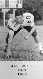 Submitted by Kellette Wade: This photo from the Americus High School Class of 1966 yearbook shows Ronnie Adkins taking his three-point stance as a defensive tackle for the Panthers.