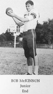 Submitted by Kellette Wade:   Bob McKinnon poses with a football in the AHS Class of 1966 yearbook. McKinnon pulled down a 29-yard pass to score in the Panthers' 1965 match against Mitchell County.