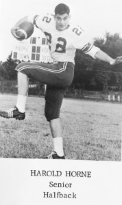 Submitted by Kellette Wade:   In this photo, taken from the Americus High School Class of 1966 yearbook, Panther fullback, Harold Horne, shows off his rushing stance.