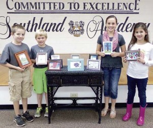 From left are Chase Chapman, Charlie Crisp, Morgan Weaver and Anna Kate Joyner.
