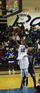 Michael Murray/Americus Times-Recorder:   Kayla Howard takes a shot during the Lady Panthers' Dec. 8 contest in Americus. Howard was designated, 'Player of the Game' after the Lady Panthers' Dec. 12 defeat of Westover.