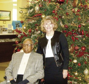 Willie Paschal with Ginger Starlin, chair of the Americus & Sumter County Hospital Authority.