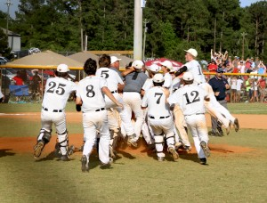 Michael Murray/Americus Times-Recorder:   This photo, from the May 22 edition of the Times-Recorder, shows the Schley County Wildcats' victory celebration after winning the Class A state championship. The Wildcats lost only one player to graduation last year, so Schley's 2015-16 baseball team is certain to bring a similar level of competition to the diamond this spring.