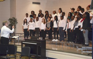 The Sumter County Intermediary School Band and Chorus performed under the direction of Hugh Peacock.