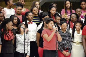 The Sumter County MIddle School Choir performed during the holidays.
