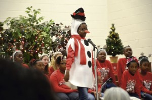 The Sumter County Elementary School Choir performed in costume for the Christmas program.
