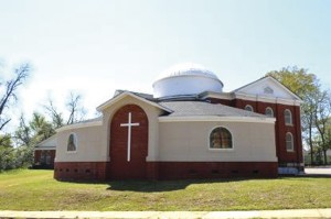 The new addition to the church.