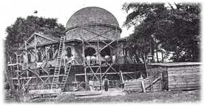 The church, under construction, in 1917.