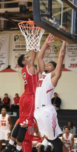 Photo by Su Ann Bird:   Corbyn Jackson (21) led the Jets in scoring in the narrow loss to Atlanta Tech with 16 points on Jan. 13.