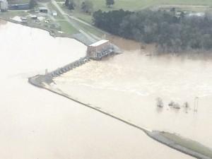 The Warwick dam on Tuesday, Dec. 22.