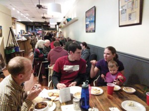 Submitted by Sumter Cycling:   Members of Sumter Cycling enjoy a hot chili dinner at the group's annual meeting on Feb. 9.