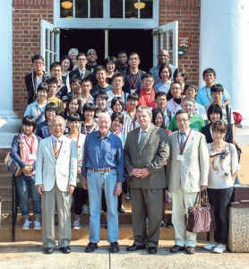Submitted by Sumter County Schools: Each year for about 25 years, Sumter County Schools have been hosting a delegation of Japanese students and dignitaries as part of a cultural exchange between Americus and its sister city in Japan, Miyoshi City. Shown above, members of this year's exchange program have a photograph taken with former president, Jimmy Carter.