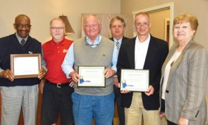 Photo submitted by SGTC: The SGTC Board of Directors were recognized recently for receiving 100 percent certification. Shown above, from left, are Board members, Willie Patrick of Cordele, George Bryce of Americus, James Davis of Macon County, Richard McCorkle of Marion County, Jem Morris of Sumter County, and SGTC Acting President, Janice Davis.