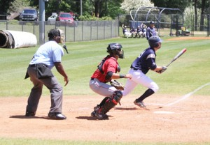 Michael Murray/Americus Times-Recorder:   GSW's Brett Burgess belts a triple during an April 17 contest in Americus. Burgess hit a two-run double to cinch the win for the 'Canes in the team's home closer on April 20.