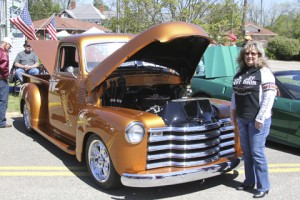 Judy McGannus, of Statesboro, displayed her 1949 Chevy pickup at the Plains Car Show on April 11.