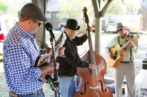 Michael Murray/Americus Times-Recorder:   Participants at the Tour de Farm's 'Meat and Greet' were treated to a live performance by Americus-based bluegrass-fusion trio, the Plucktones, on April 2 at FD Roosevelt State Park.