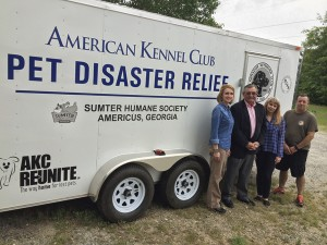 A long view of the emergency trailer recently acquired by the Sumter Humane Society with help from others.