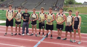 Submitted by Patrick Calcutt:   From left: Ellis Ivey, Bennett Carey, Brody Shattles, Wright Calhoun, Stephen Turton, Stephen Taggart, Billy Calcutt, and Sydney Payne each turned in excellent performances at the region tournament.