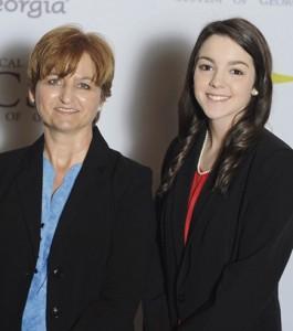From left, nominating instructor, Tonya Vissage, and EAGLE recipient Amanda Farley.
