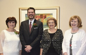 John Watford and his wife Barbara are shown with his mother, Dorris Watford, second from right, and his sister Lettie Watford, Ph.D.