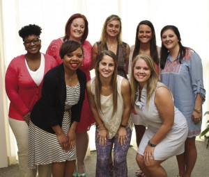 Nursing students who received scholarships pose for a picture following the luncheon.