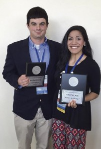 Michael Leeder and Ashley Moore, won the Public Speaking competition. Other winners included Ginny Calhoun and Karen Weathersby.