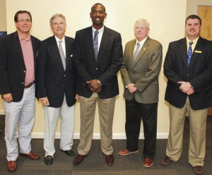 The 2016-2018 GSW Foundation Executive Committee (left to right): Ryan Young, Ricky Arnold, Doug Moses, Mark Pace and Will Peterson. Not pictured, Lou Chase.