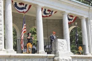 Featured speaker Lt. Col. Kent Morrison USMC (ret.) gives the keynote address.