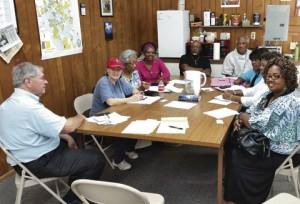 Americus-Sumter County Transitional Housing program meeting.