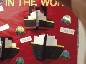 Students at Webster County Middle School enjoyed their lengthy project on the historic Titanic.