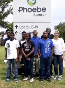 Back row, from left, are Eddie Mercer, Jorrey Simmons, D'Angelo Waters, Shaquille Coleman; and front row, Kendarious Durham, Shantay Smith, Joshua Poole, and Wendy Castilla. Cheyenne Reese also participated but is not shown in the photo.