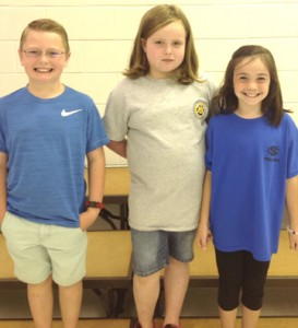 Submitted by Schley County Schools: 2nd Grade Gold Honor Roll: Awarded to students who have achieved a 95 in EACH major subject through the first three nine weeks of school. From left are Brody Elliott, Madison Manning, Laura Lee Bush.