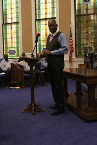 Americus City Council member Nelson Brown was also a speaker at the rally.