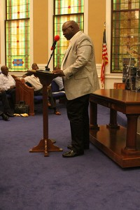 Albany attorney Maurice King was one of the speakers.
