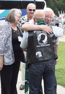 Hugs abound as old friends reunite at The (2014) Ride Home.