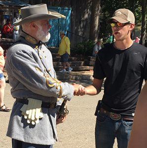 'General Robert E. Lee' greets someone from the 21st century.