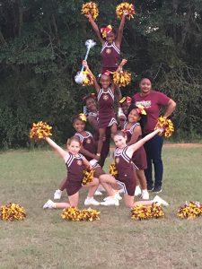 Submitted Photo: The seven and eight year-old Seminoles: Coach: Chantell Green. Cheerleaders: Lindsey Stiles, Madision Stiles, MaKayla Mann, Jordan Wilson, Kymree Mathis, Kimiyah Hardy, and Tamea Hawkins.