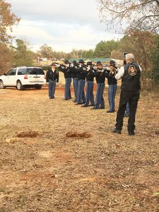 A 21-gun salute was also part of the Officer Nick Smarr's funeral service at Oak Grove Cemetery.