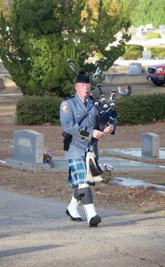 Dan Bray, bagpiper for the state of Georgia, played an integral role in the funerals of both officers, Nick Smarr and Jody Smith.