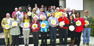 Harvest of Hope recognized its benefactors at a breakfast, presenting each with a Full Plate plaque.