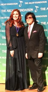 The ASCAP Award Ceremony at the Lincoln Center in Manhattan held earlier this month where Hammack received her award from John Titta, executive vice president of ASCAP Membership and a publishing legend in the music world.