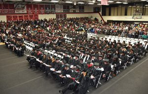 A large crowd attended the SGTC Fall graduation ceremony.