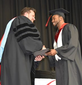 Racarda Blackmon of Americus was presented with his networking specialist associate of applied science degree by President Watford.